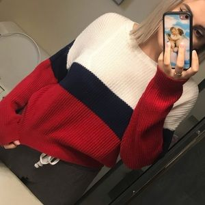Multi coloured cropped sweater